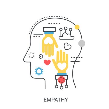 Empathy vector illustration concept. Vettoriali