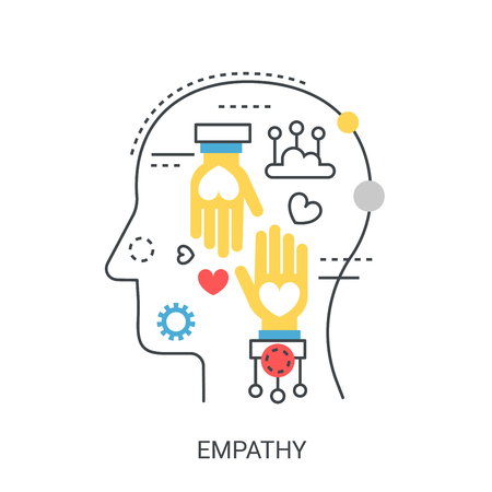 Empathy vector illustration concept. 矢量图像