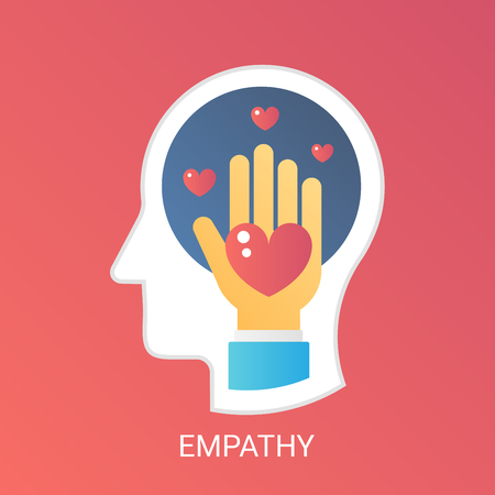Vector Empathy concept. Modern gradient flat style. Illustration