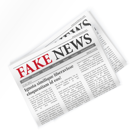 Fake news realistic newspaper isolated vector illustration Banque d'images - 122040464