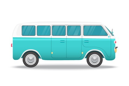 Retro bus vector illustration concept for vintage card Illustration