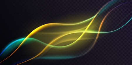 Gradient green neon color wave, abstract light effect, dynamic soft gradient stream motion