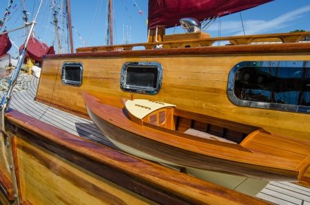restored: Beautifully restored classic boats Stock Photo