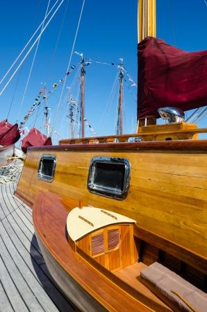 restored: Beautifully restored classic boats Stock Photo