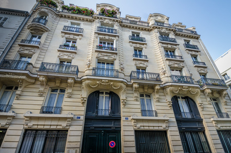 rue: Paris, France, October 9, 2014 - Jim Morrison lived on the third floor of Rue Beautreillis 17 in Paris when he died of a heroin overdose in 1971. Editorial
