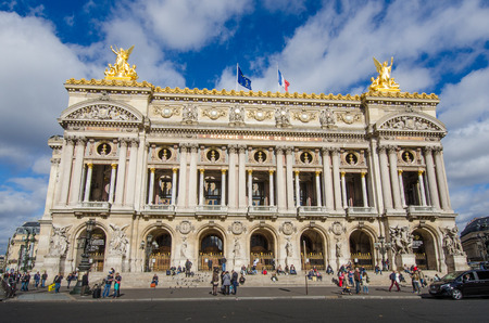 exceptional: Palais Garnier is an historic opera house of exceptional opulence and beauty in Paris, France Editorial