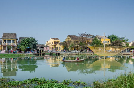 Hoi An, Vietnam, February 10, 2015 - This ancient trading post on the Thu Bon River and UNESCO World Heritage Site is a popular with tourists.