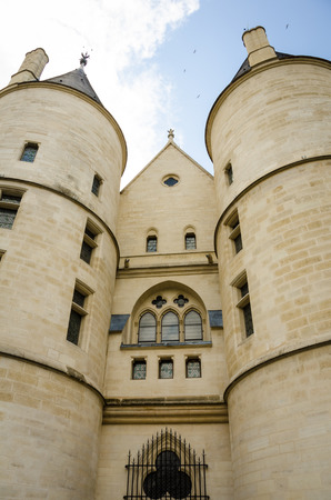 execution: Paris, France, September 4, 2015 - The tower of the Conciergerie is where Marie-Antoinette and others were imprisoned before their execution by the guillotine during the French Revolution. Editorial
