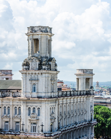 spanish houses: Havana, Cuba, June 13, 2016 - The National Museum of Fine Arts (Museo Nacional de Bellas Artes) in La Habana Vieja was built in 1927 in the Spanish Renaissance style and houses art from European Masters as well as a collection ancient art, from the Egypti