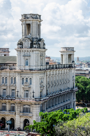 the arts is ancient: Havana, Cuba, June 13, 2016 - The National Museum of Fine Arts (Museo Nacional de Bellas Artes) in La Habana Vieja was built in 1927 in the Spanish Renaissance style and houses art from European Masters as well as a collection ancient art, from the Egypti