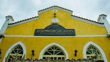 Buzios, Brazil, February 25, 2017 - Assemblies of God are protestant evangelical churches founded in 1918 by Swedish missionaries affiliated with the Pentecostal movement. Editorial