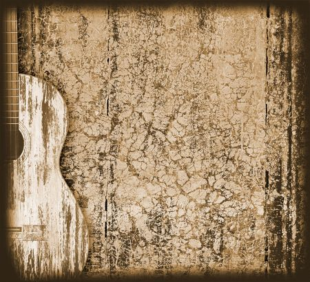 guitarra acustica: fondo musical Foto de archivo