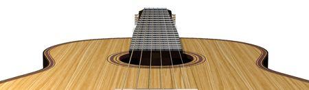 fretboard: acoustic guitar Stock Photo