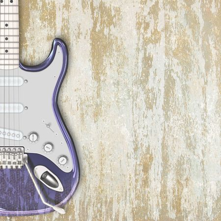 abstract musical background electric guitar on a light Stock Photo - 6652478