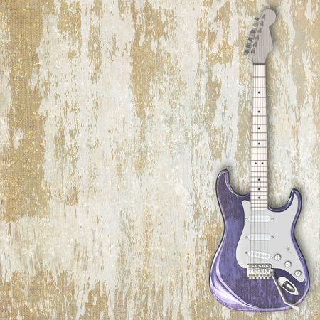 abstract musical background electric guitar Stock Photo - 6683225