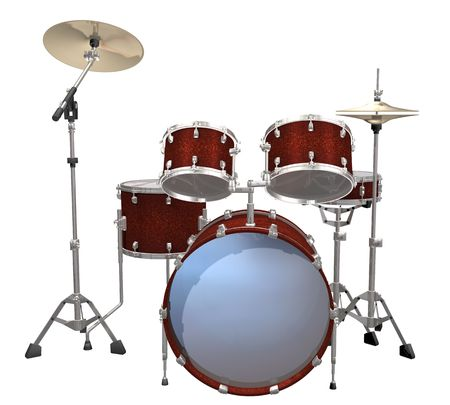 chrome base: Drum Kit isolated on a white background