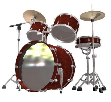 chrome base: Kit tamburo isolato su uno sfondo bianco  Archivio Fotografico