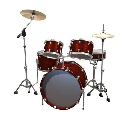 chrome base: Drum Kit isolated on a white background