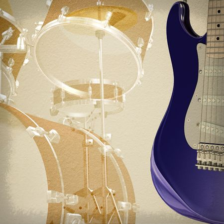 abstract jazz rock background musical instruments Stock Photo - 6847348