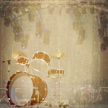 abstract jazz rock background musical instruments photo