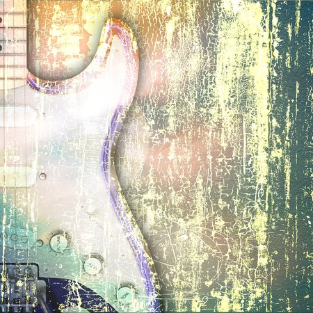 abstract jazz rock background musical instruments Stock Photo - 6847338