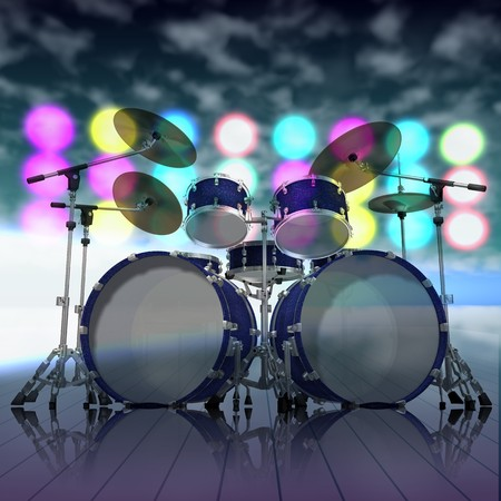 musical instruments on a music stage Stock Photo - 7574342