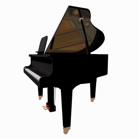 Grand-piano isolated on a white background Stock Photo - 7574296