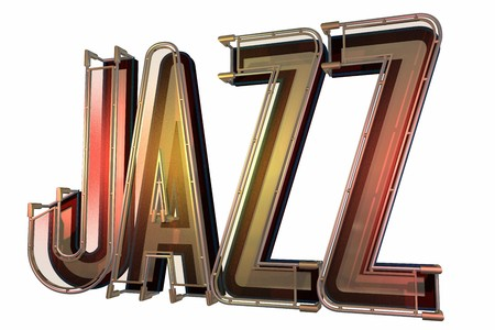 abstract jazz background isolated on a white Stock Photo - 7574382