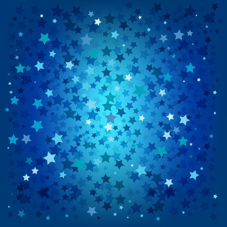 sun star: abstract christmas blue stars background