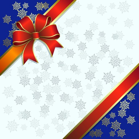 Christmas illustration on a snowflakes background Vector