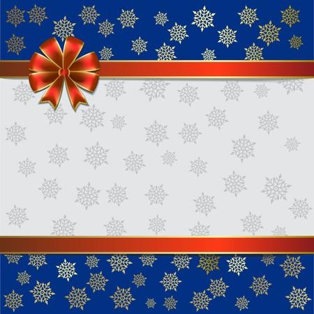 Christmas illustration on a snowflakes background Illustration