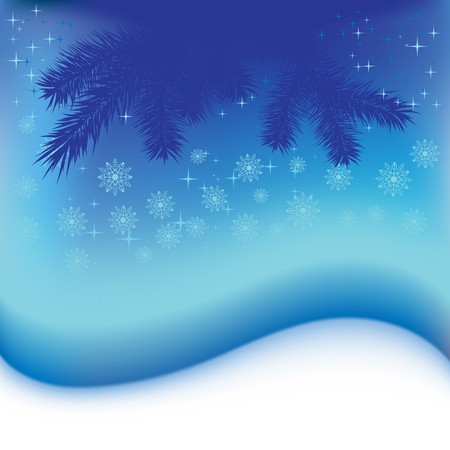 Christmas snowflakes blue abstract background Stock Photo - 7833755