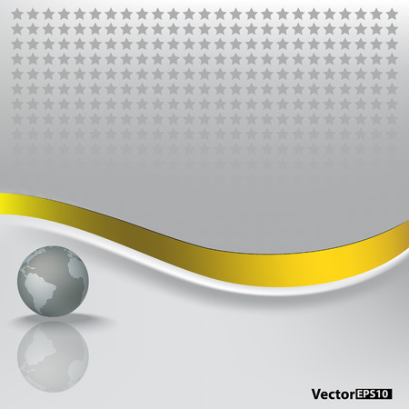 abstract background with grey globe on white Vector