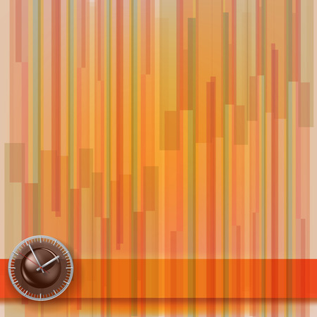 abstract illustration with clock on stripes background Stock Vector - 8769430