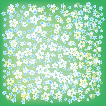 abstract floral background with small flowers on green Stock Vector - 8984192