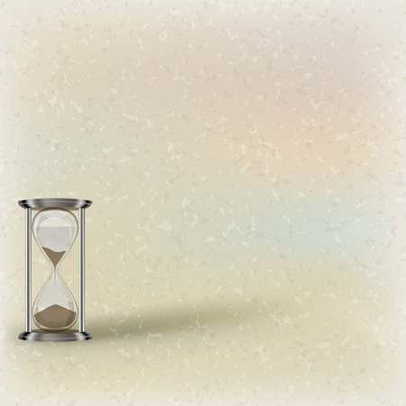 abstract illustration with hourglass on beige background Vector