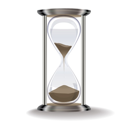 old hourglass isolated on a white background Vector