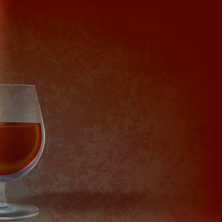 winetasting: abstract illustration with wineglass on grunge background