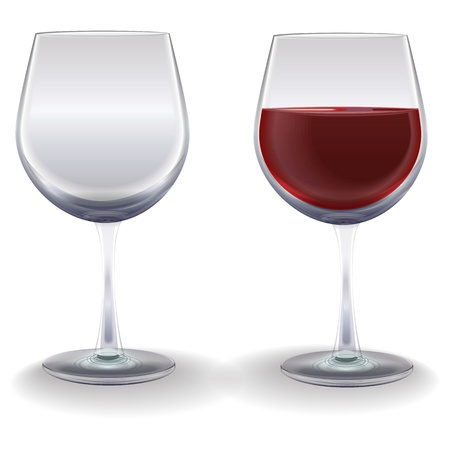 winetasting: wine glasses isolated on a white background