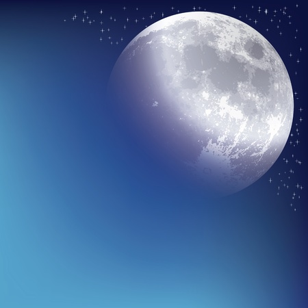 moonrise: abstract background with moon on the night sky