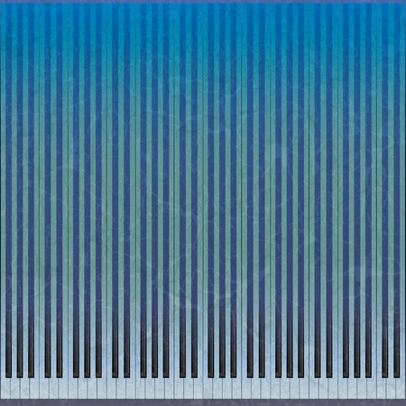 abstract grunge music background with blue piano keys  Vector