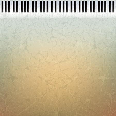 Fondo de música grunge abstracto con teclas de pianos de brown