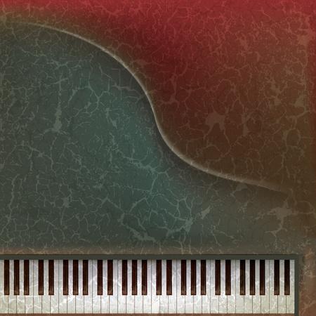 oude sleutel: grunge muziek achtergrond met piano toetsen op dark abstract