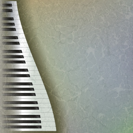 abstract grunge music background with piano keys on grey Stock Vector - 9647110