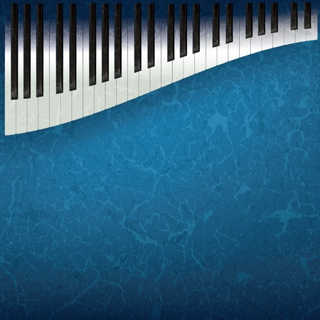 abstract grunge music background with piano keys Stock Vector - 9647101