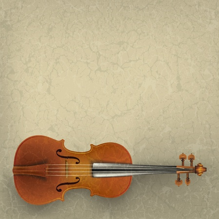 grunge music background: Fondo de m�sica grunge abstracto con viol�n en color beige