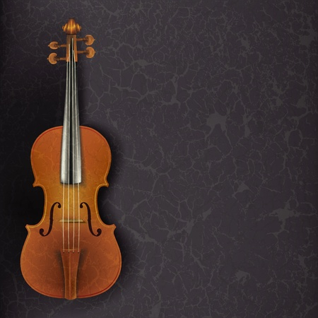 violins: abstract grunge music background with violin on grey