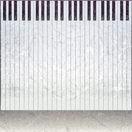 abstract grunge music grey background with piano keys Vector