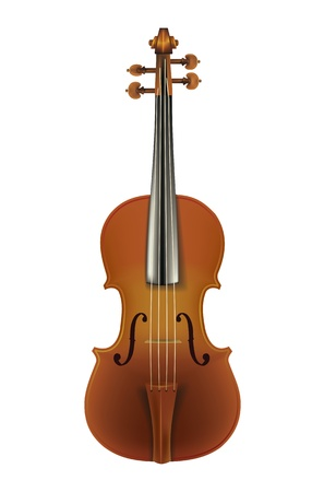classic violin isolated on a white background Stock Vector - 9647086