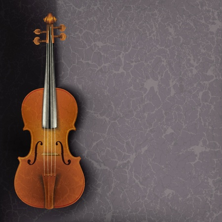 violoncello: abstract grunge music background with violin on a grey